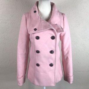 H&M baby pink pea coat S XS 2